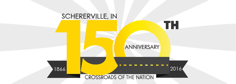Advertisement for 150th Anniversary of Schererville