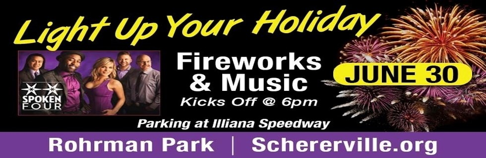 Advertisement for june 30th 2017 fireworks showw