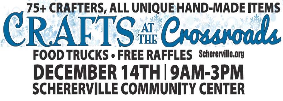 christmas craft show coming December 14th 9am-3pm at the Community center: 75+ crafters, food trucks