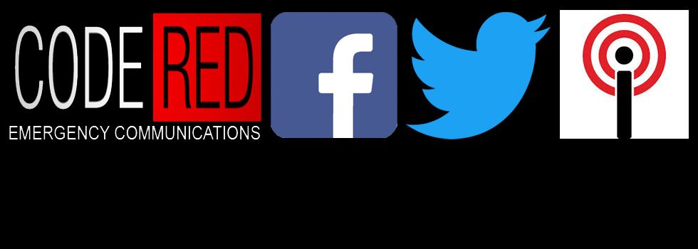 Social media logos facebook, citybyapp, twitter, codered